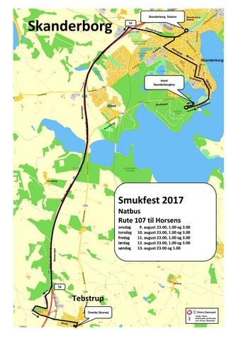 Smukfest 2017 Og Kort Over Skanderborg Pa Bus 107 Samt Natbus