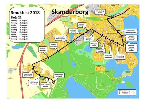 Smukfest 2018 Og Kort Over Skanderborg Pa Bus 21 Midttrafik By