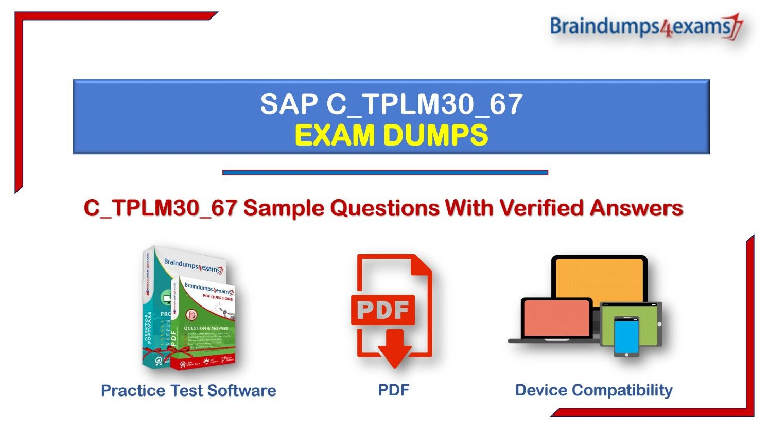 SAP Best Practice Material For C/_TPLM30/_67 Exam Q/&A PDF+SIM