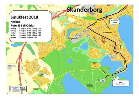 Smukfest 2018 Og Kort Over Skanderborg Pa Bus 331 Samt Natbus