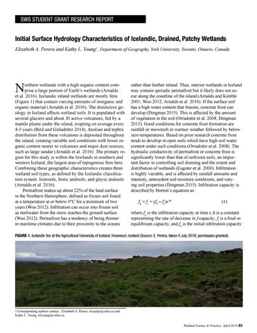 Page 15 of Initial Surface Hydrology Characteristics of Icelandic, Drained, Patchy Wetlands