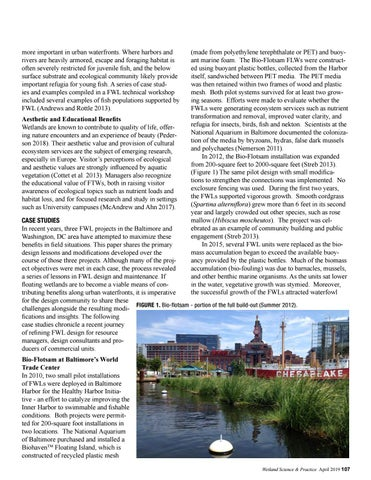 Page 39 of Adapting floating wetland design to advance performance in urban waterfronts