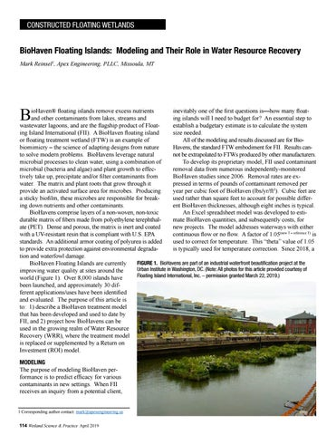 Page 46 of Biohaven Floating Islands: Modeling and Their Role in Water Resource Recovery