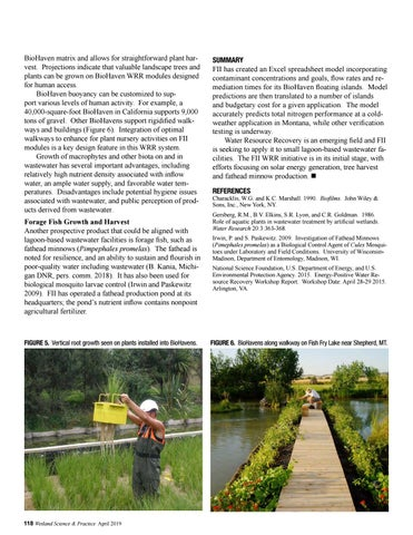 Page 50 of Potential and Problems of Floating Treatment Wetlands for Mitigating Agricultural Contaminants