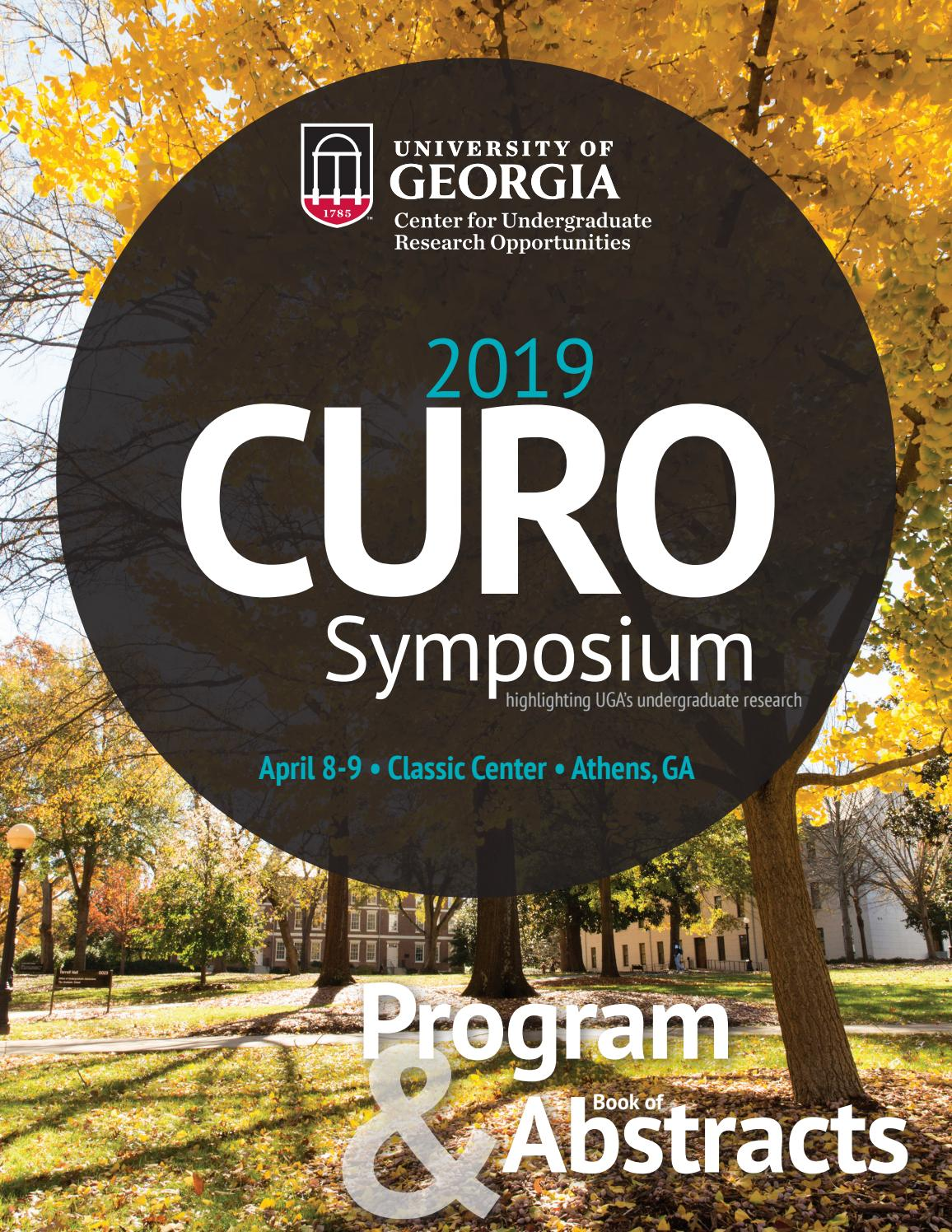 bea19ae056 CURO Symposium 2019 Program   Book of Abstracts by UGA Honors Program -  issuu