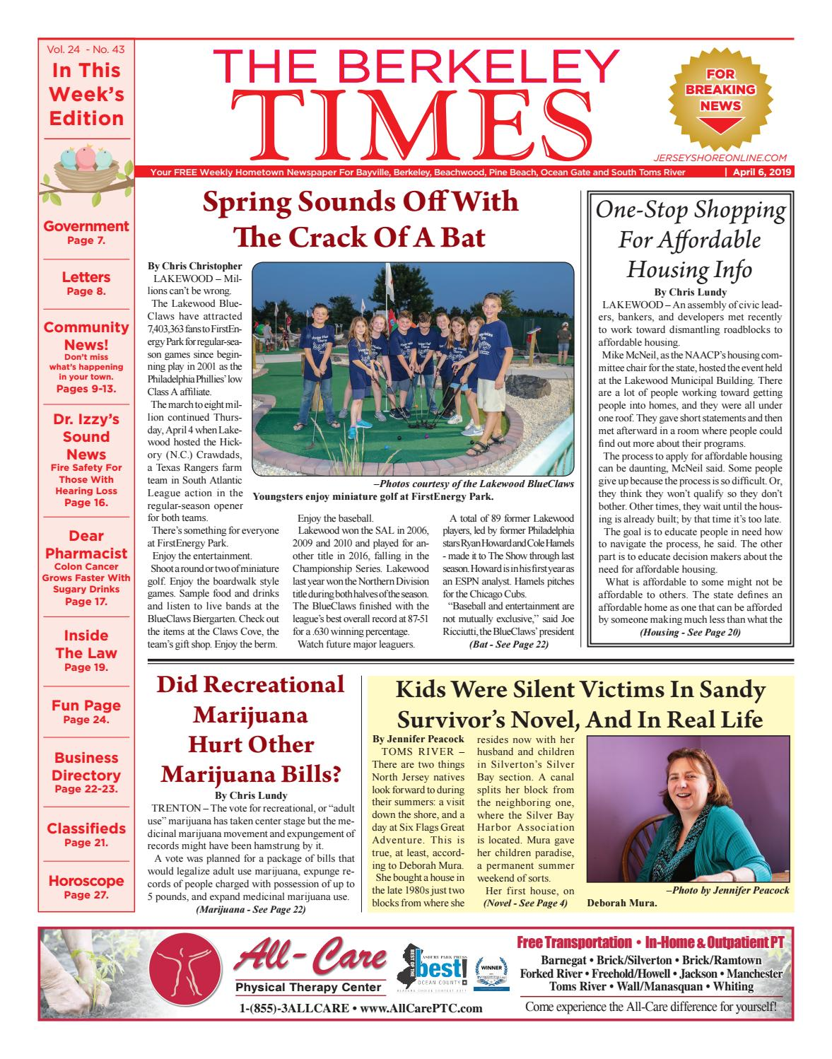2019-04-06 - The Berkeley Times by Micromedia Publications/Jersey