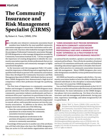 Page 20 of The Community Insurance and Risk Management Specialist (CIRMS)