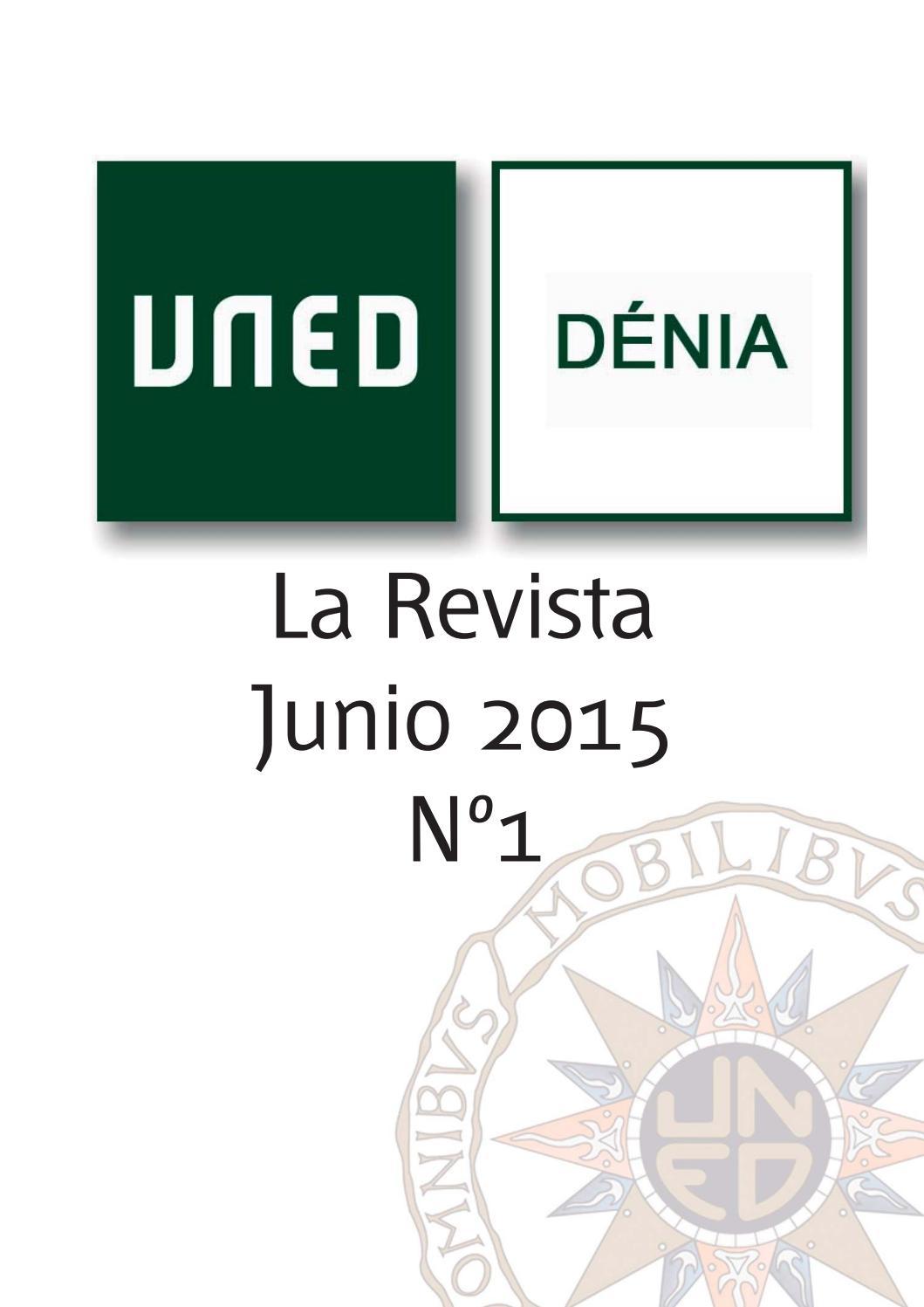 La Revista Nº 1 By Uned Centro Asociado Dénia Issuu