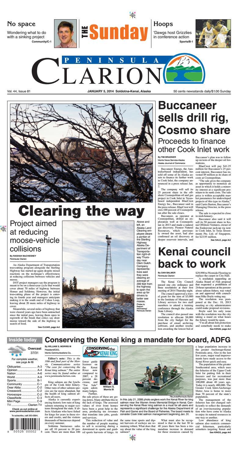 Peninsula Clarion January 05 2014 By Sound Publishing Issuu