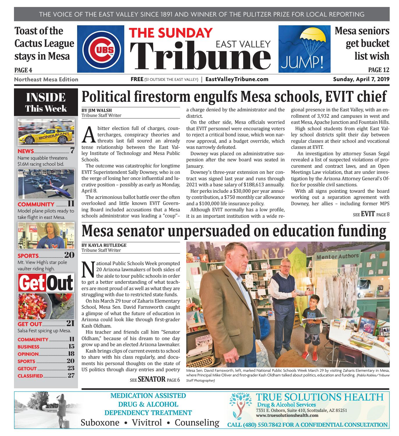 a8f2bd07e East Valley Tribune: Northeast 04-07-2019 by Times Media Group - issuu