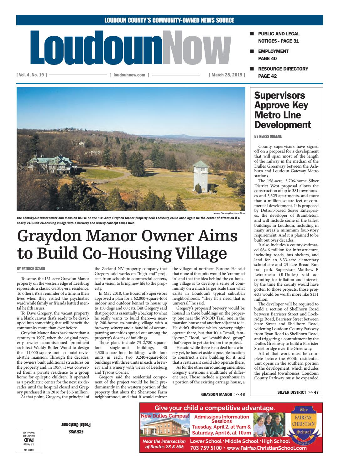 Loudoun Now for March 28, 2019 by Loudoun Now - issuu