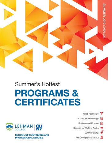 88546d2b20b3 Lehman College SCPS Summer 2019 Catalog by Lehman College