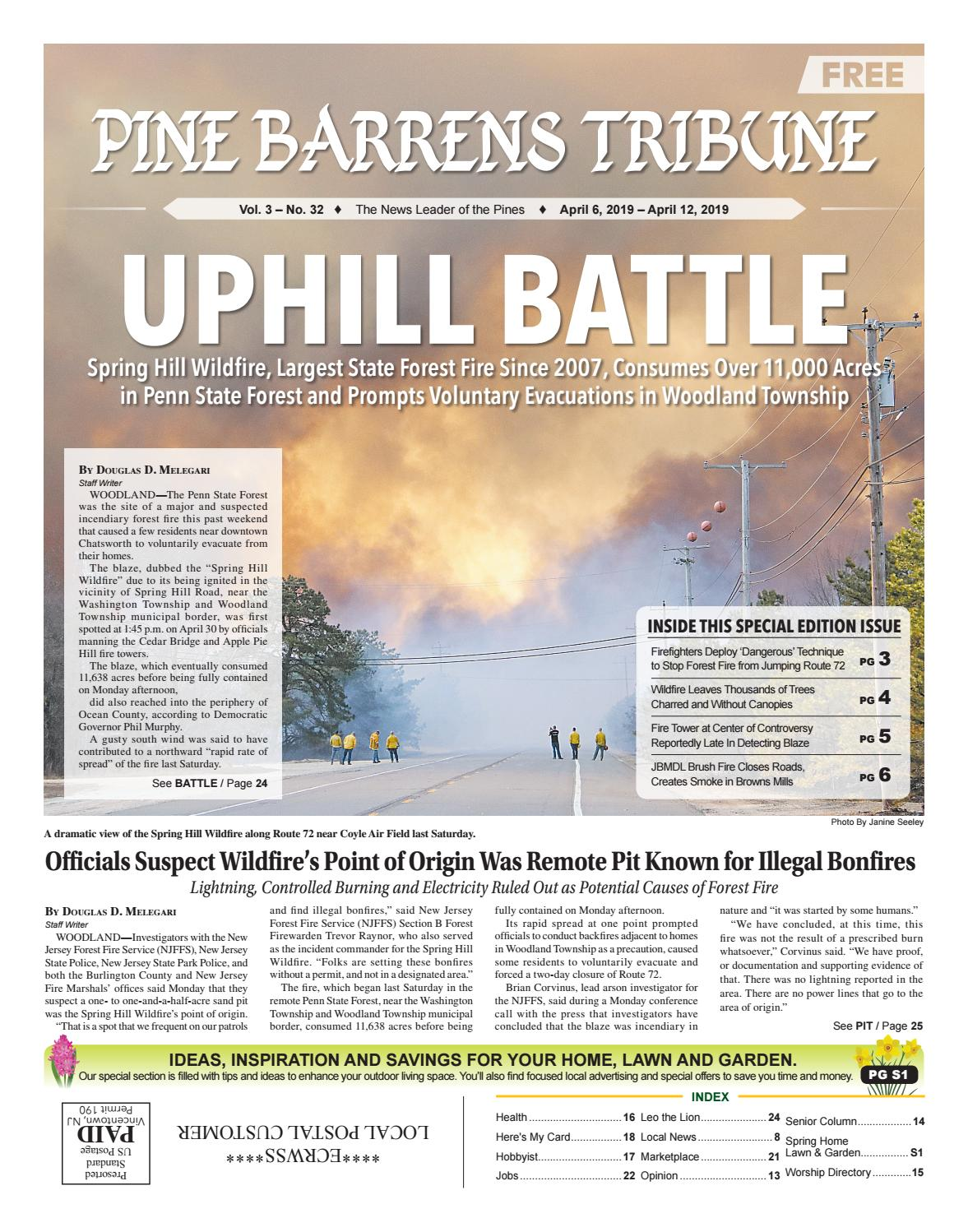 Pine Barrens Tribune Apr  5 -April 12, 2019