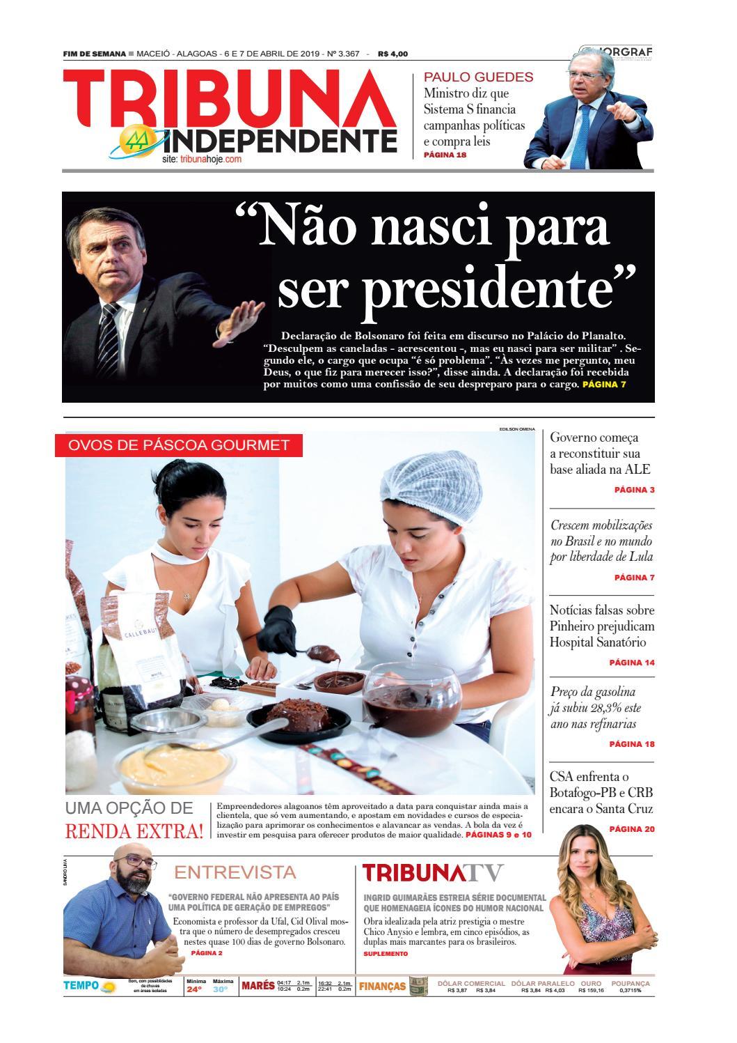 64b74df8a90 Edição número 3367 – 06 e 07 de abril de 2019 by Tribuna Hoje - issuu