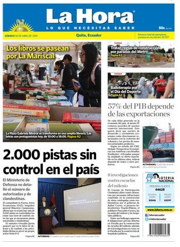 61155973e91 Quito 06 de abril de 2019 by Diario La Hora Ecuador - issuu