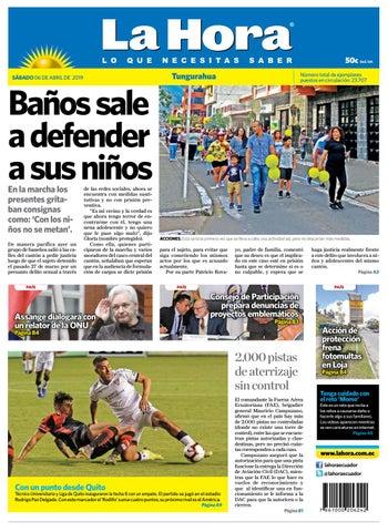 bcf3796a8 TUNGURAHUA 06 DE ABRIL DE 2019 by Diario La Hora Ecuador - issuu