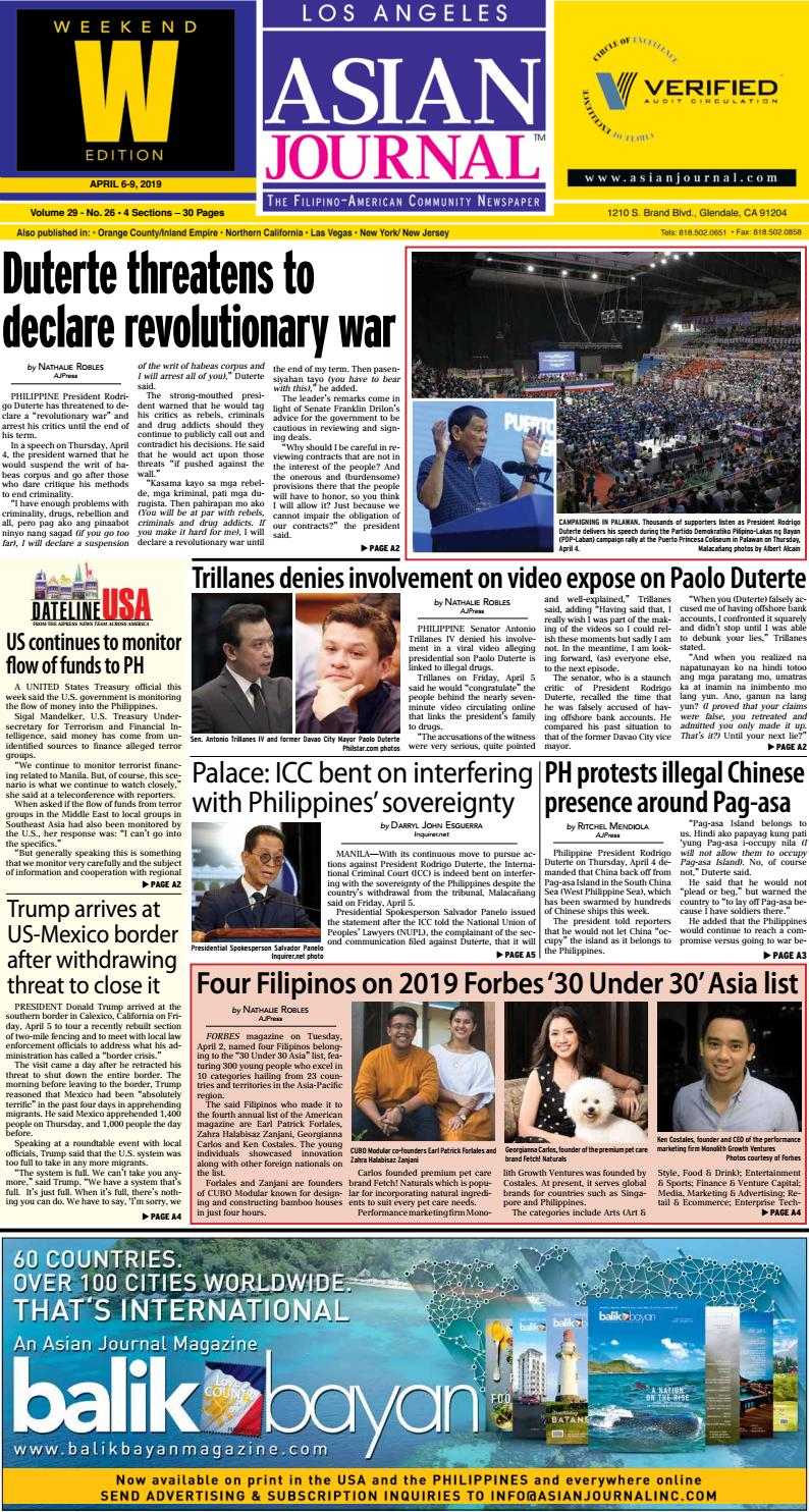 040619 - Los Angeles Weekend Edition by Asian Journal Community