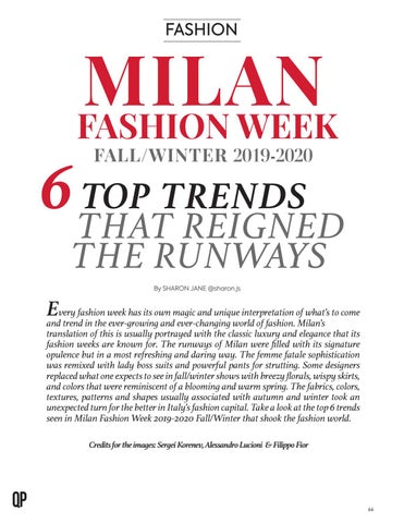 Page 66 of 6 Top Trends That Reigned the Runways