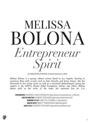 Page 76 of Melissa Bolona Entrepreneur Spirit