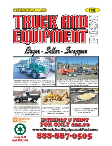 Truck And Equipment Post - Issue 16-17, 2019 by 1ClickAway - issuu