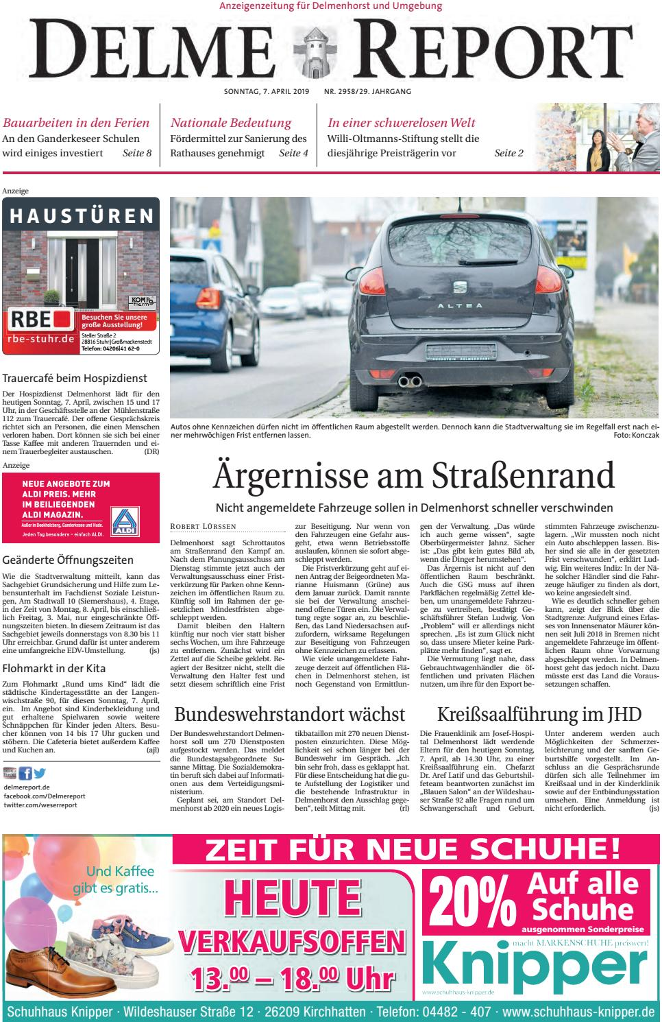 Delme Report vom 07.04.2019 by KPS Verlagsgesellschaft mbH - issuu