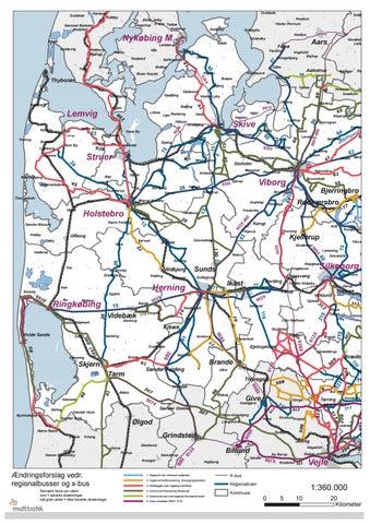 Kort Over Midtjylland Vest 2010 Aendringsforslag Vedr