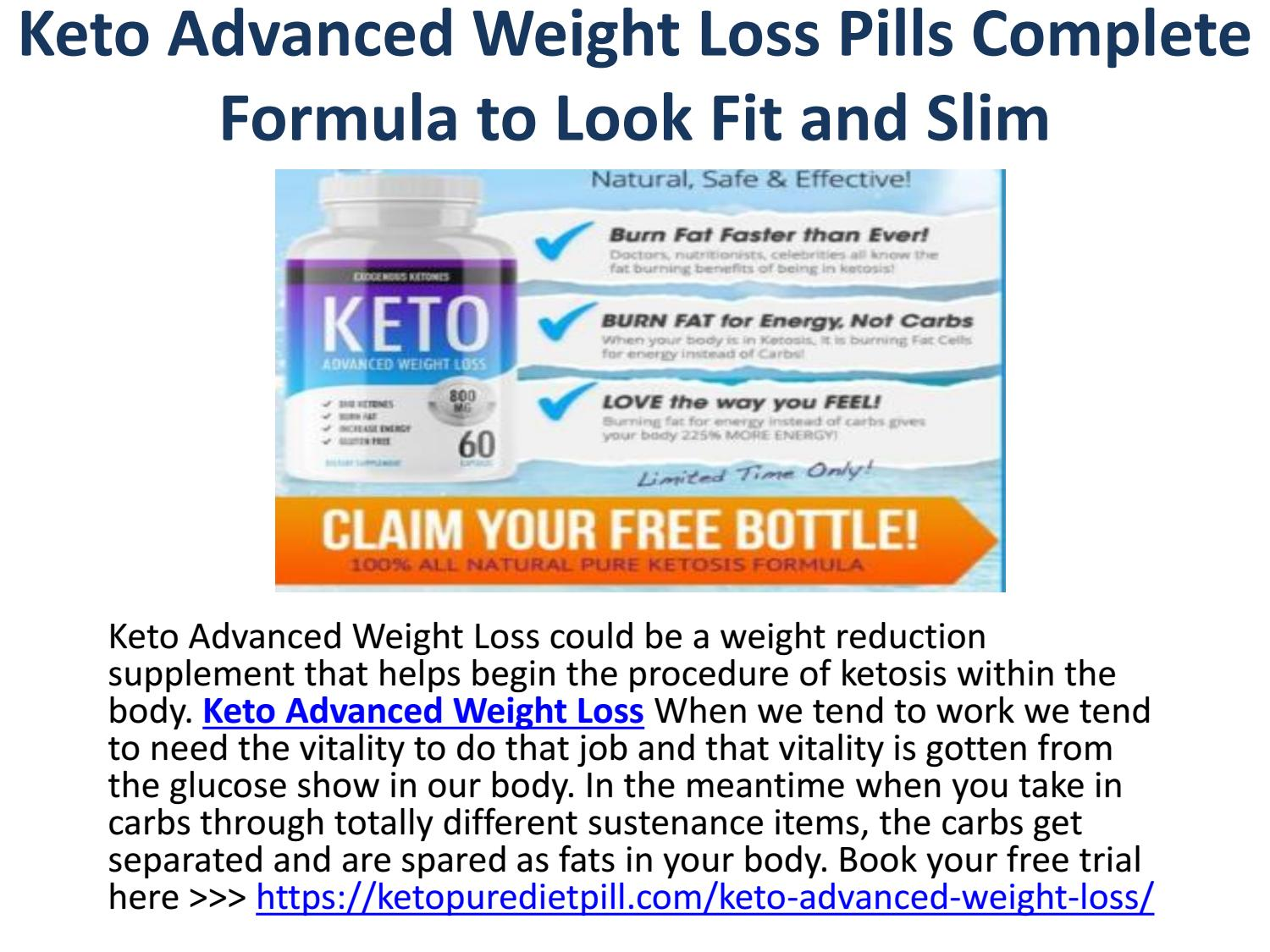 Keto Advanced Weight Loss Pills Complete Formula To Look Fit And