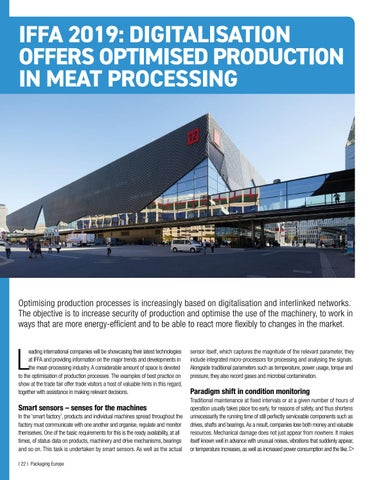 Page 24 of IFFA 2019: Digitalisation offers Optimised Production in Meat Processing