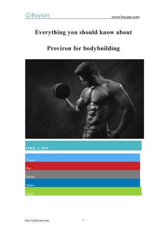 Everything you should know about Proviron for bodybuilding
