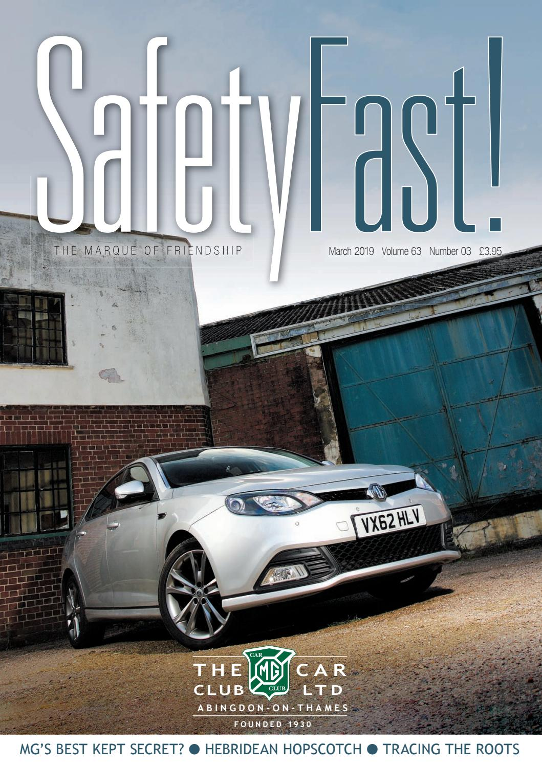 Safety Fast! March 2019 by MG Car Club - issuu