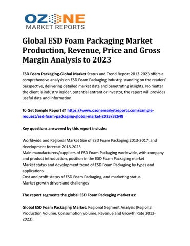 Global ESD Foam Packaging Market Production, Revenue, Price and