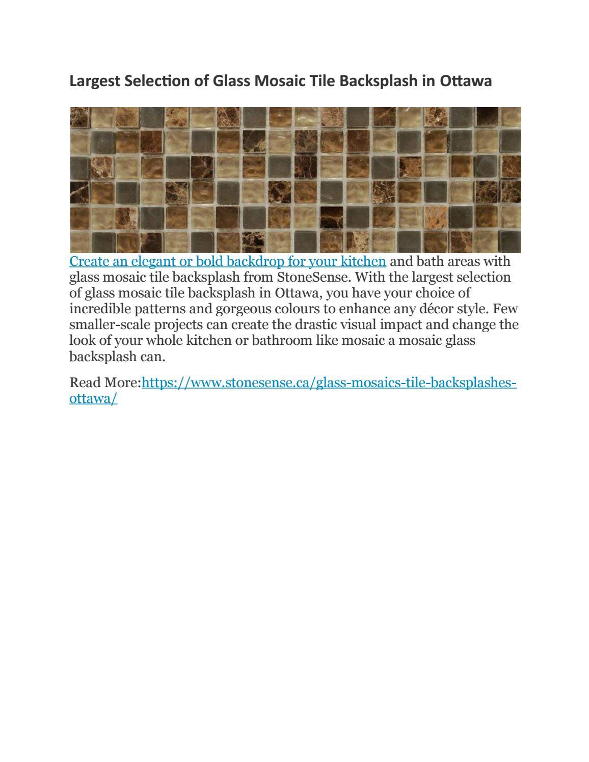 Largest Selection Of Glass Mosaic Tile Backsplash In Ottawa By