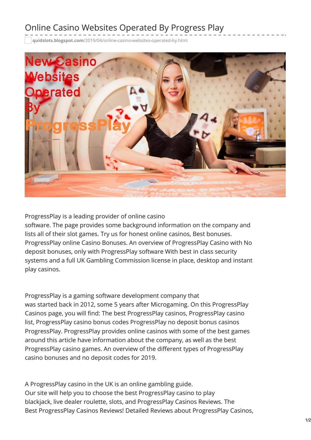 Online Casino Websites Operated By Progressplay By Quidslots Issuu