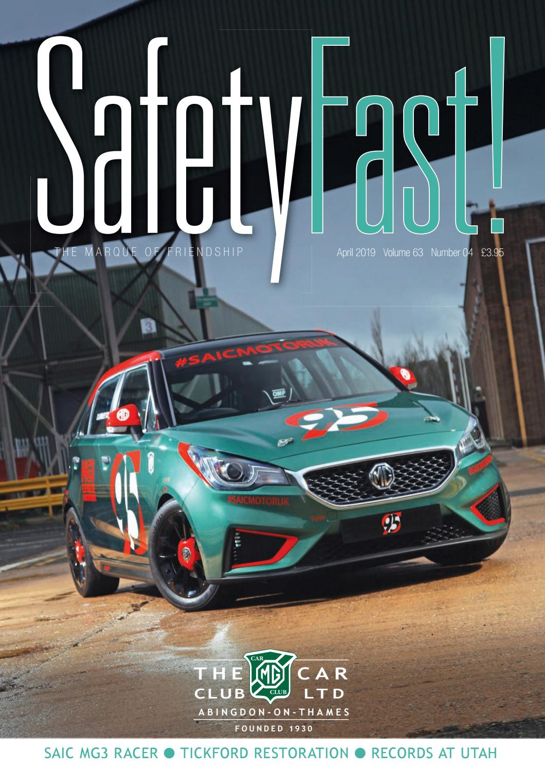 Safety Fast! April 2019 by MG Car Club - issuu