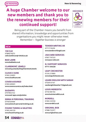 Page 54 of New and renewing members