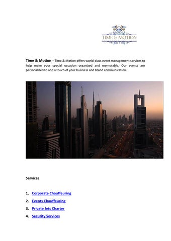 private Jets Charter Cost Dubai by Time & Motion - issuu