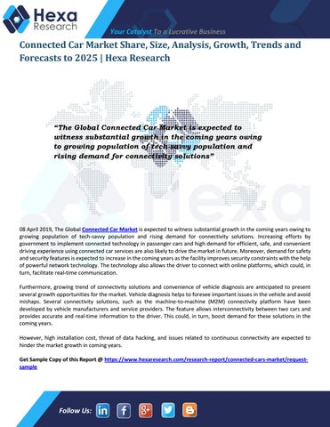 Connected Car Market Key Companies and Competitive Strategies