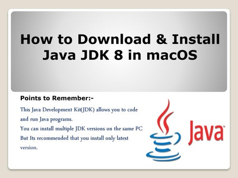 How to download and install java 8 in macOS 1-888-410-9071 by