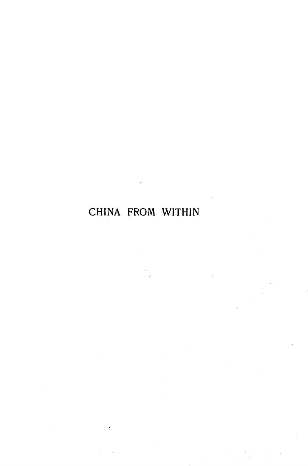 Stanley P  Smith [1861-1931], China From Within, or the Story of the