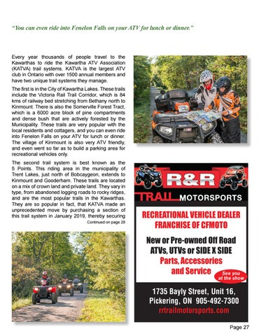 Page 27 of ATV Trails in the Kawarthas