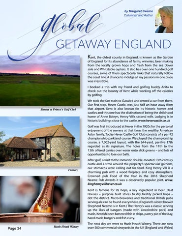 Page 34 of Global Getaway - Golfing and Eating in England