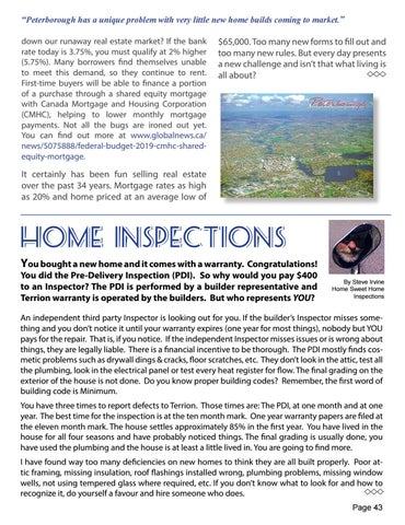 Page 43 of Real Estate in the Kawarthas / Home Inspections