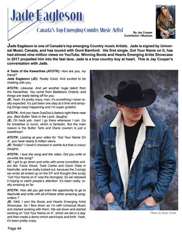 Page 44 of Jade Eagleson - Country's Hottest New Talent