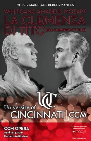 CCM's Mainstage Series Presents 'La Clemenza di Tito' by