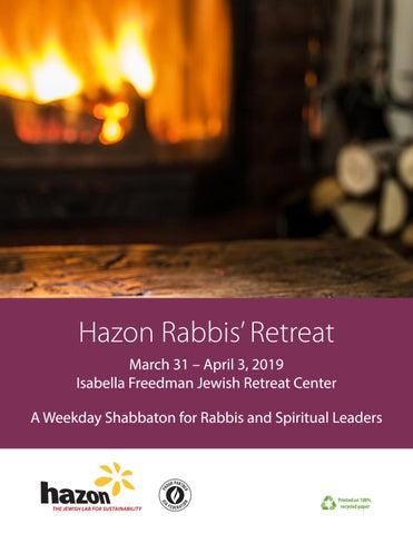 Hazon Rabbis' Retreat 2019 program book by Hazon - issuu