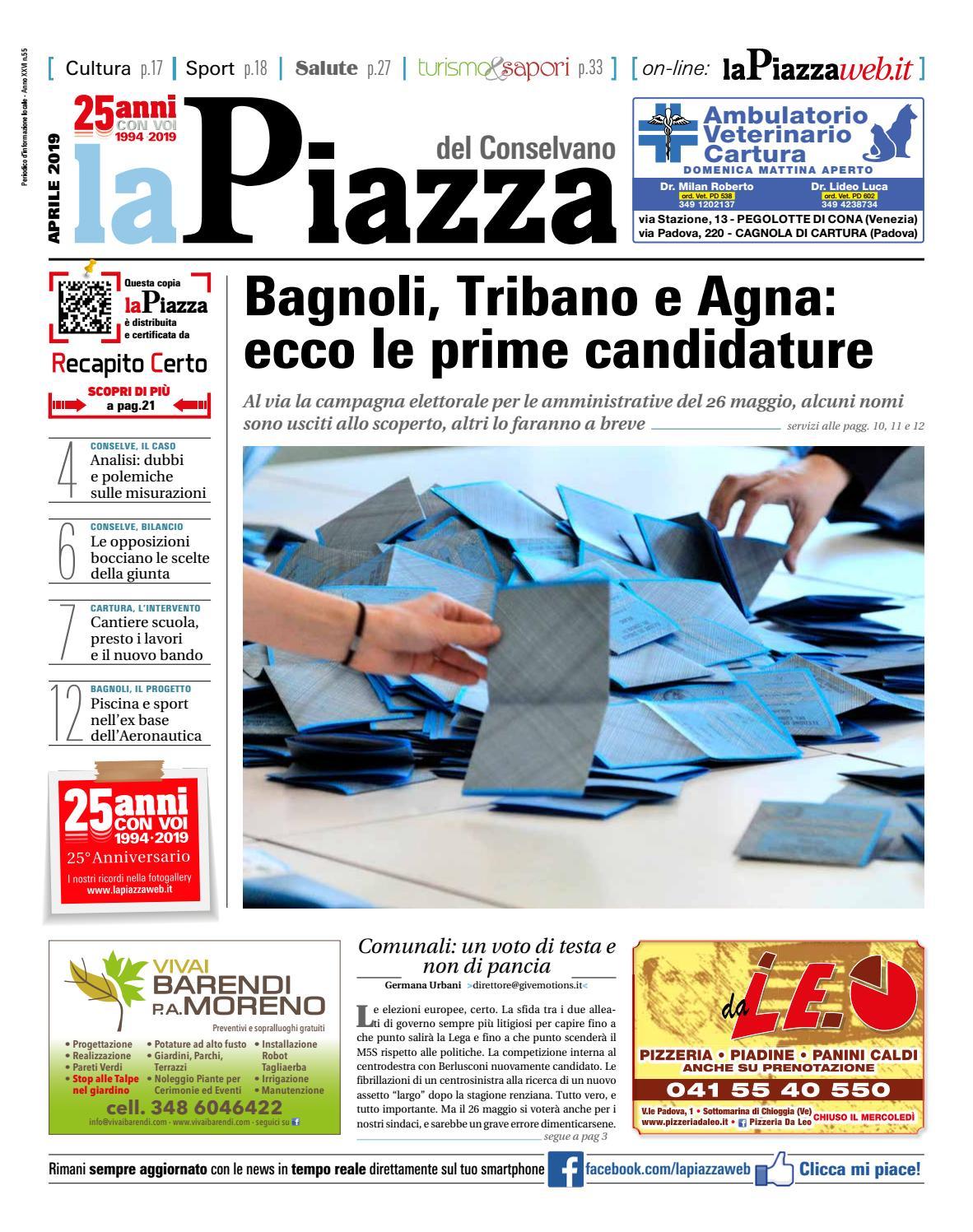 37b53f358108 La Piazza del conselvano apr2019 n55 by lapiazza give emotions - issuu