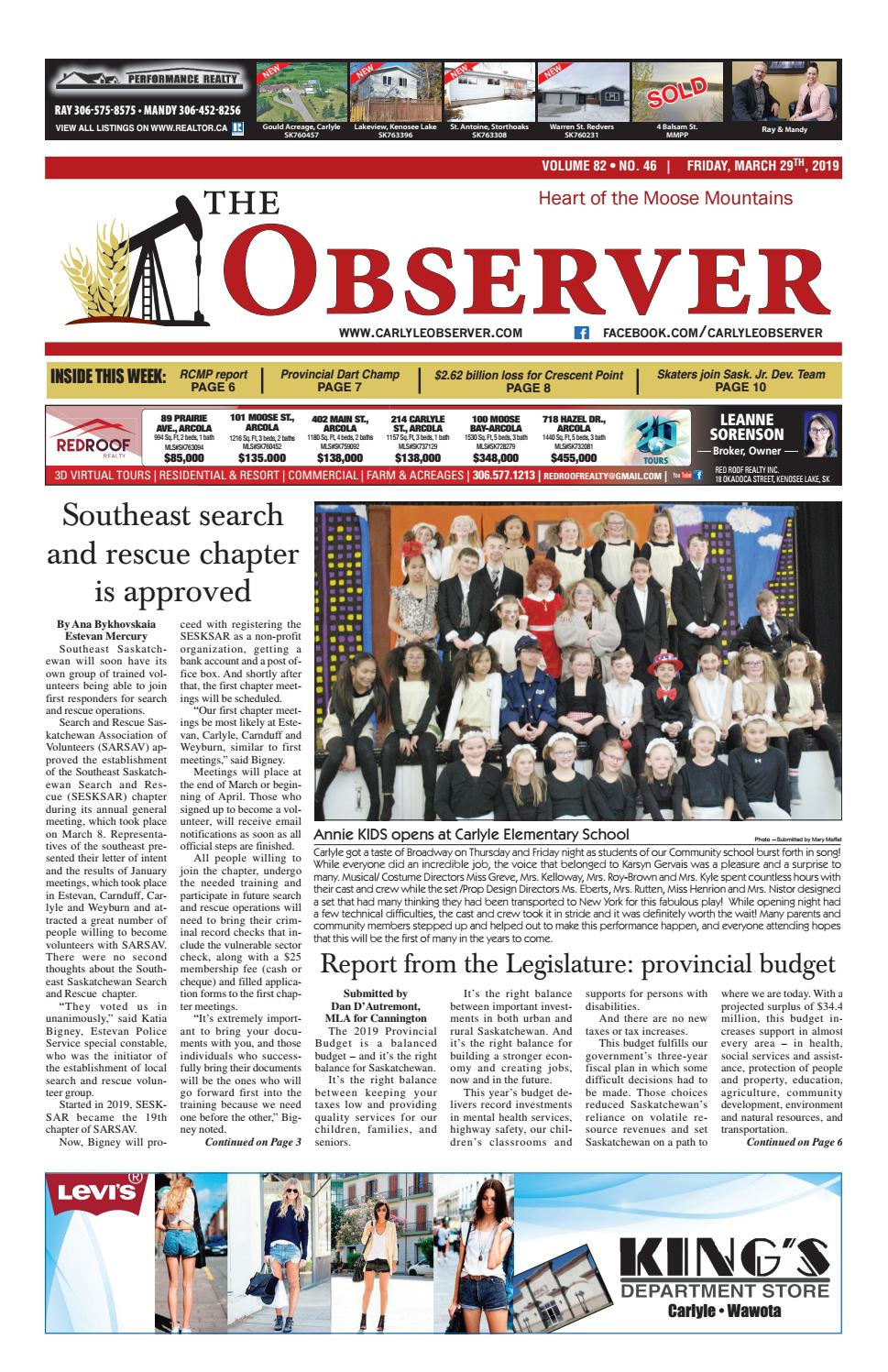 Carlyle Observer, March 29, 2019 by Carlyle Observer - issuu