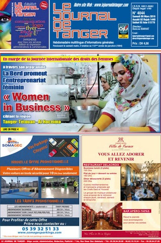 fbdd0ebaf Le journal de Tanger 09 Mars 2019 by Le Journal de Tanger - issuu