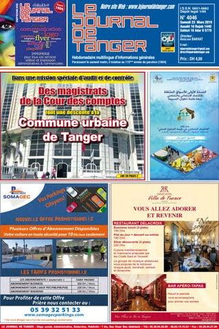 54268795f Le journal de Tanger 23 Mars 2019 by Le Journal de Tanger - issuu