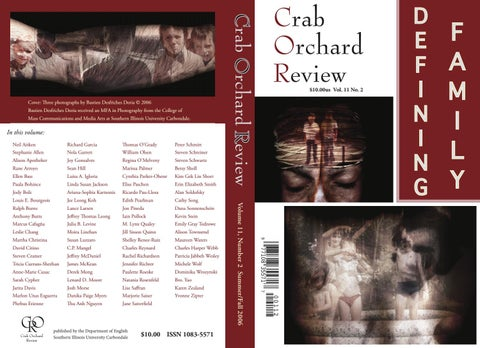 Crab Orchard Review Vol 11 No 2 S/F 2006 by Crab Orchard